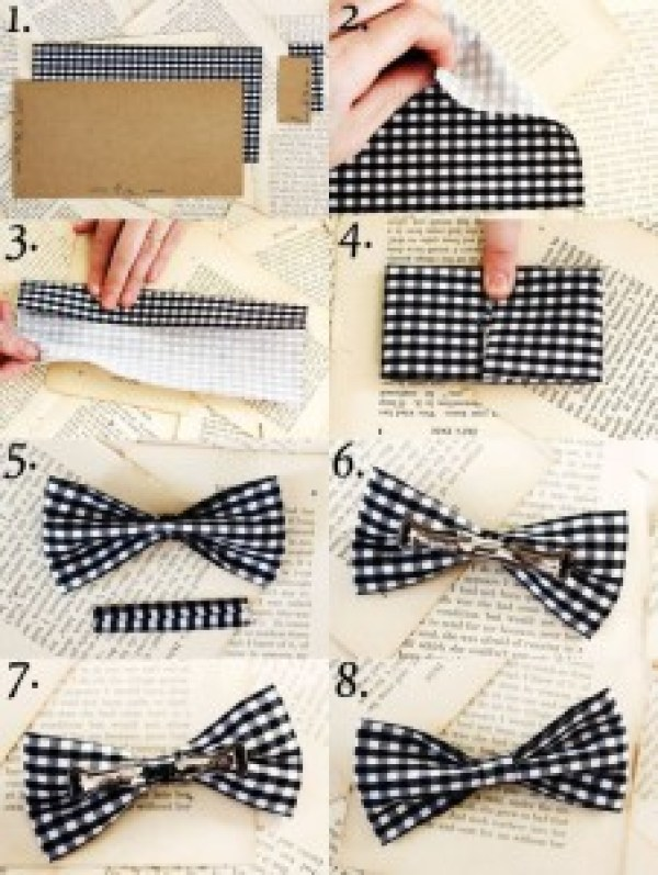 DIY Black&White Bow