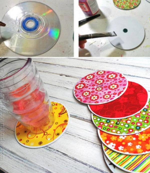 DIY Colourful CDs