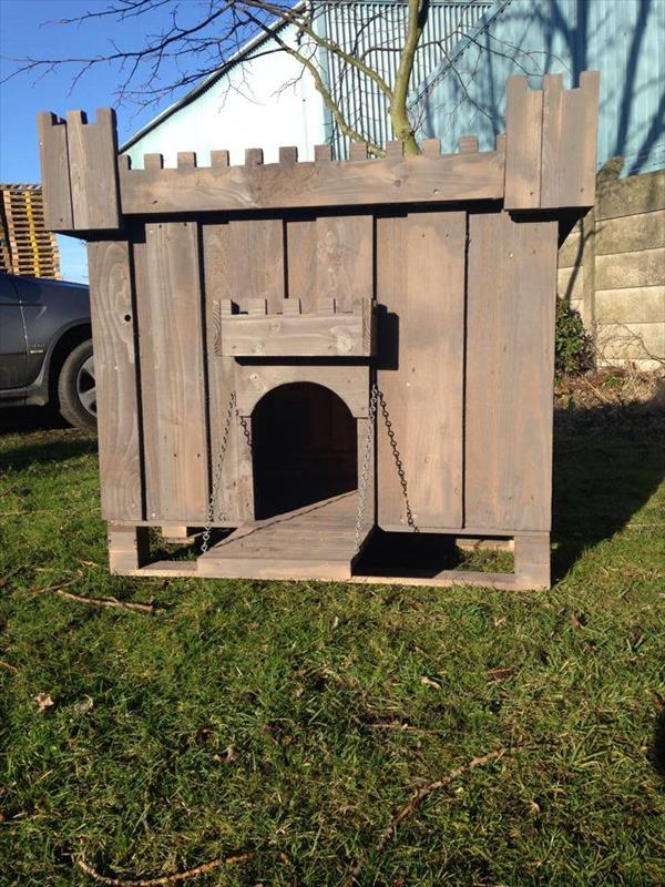 do it yourself dog pallet house