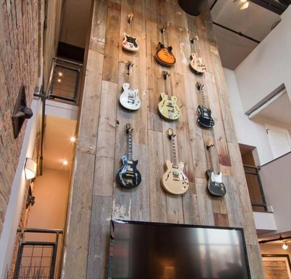 organizing guitar at home
