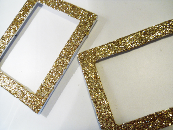 DIY Glitter Frames