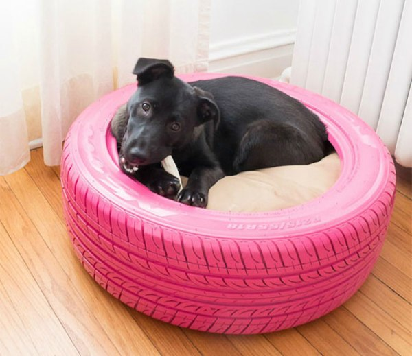 DIY pink tire for dog