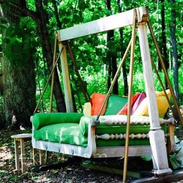 DIY White Swing Bed