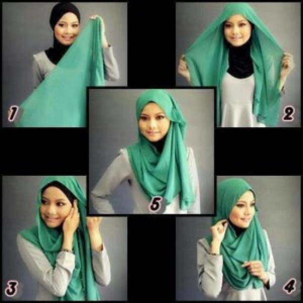 DIY Green Hijab