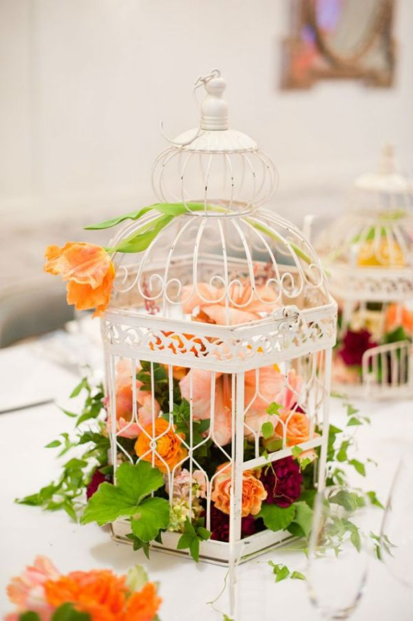 DIY Flower Cage Decor