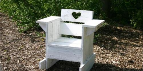 DIY Love White Chair