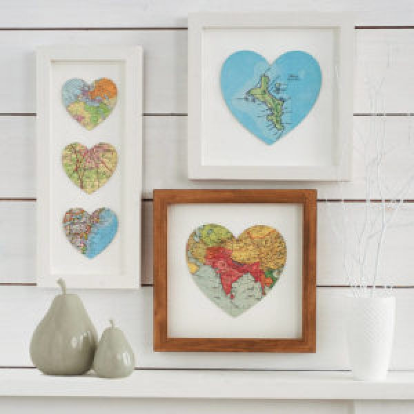 DIY Map Pictures frame