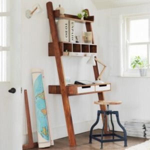 DIY work desk from old ladder