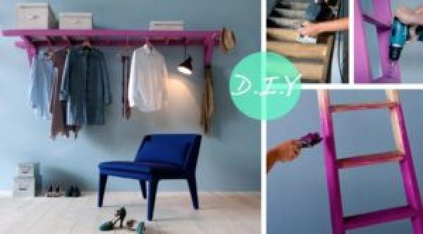 DIY Ladder Cloth Rank