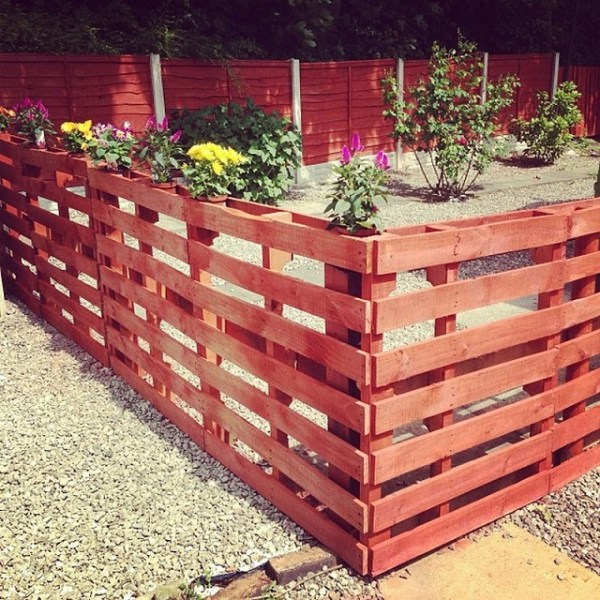 DIY Red Fence