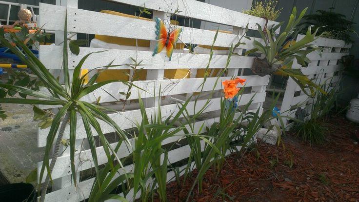 DIY White Fence