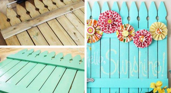 DIY Pastel Fence