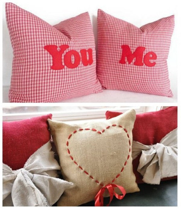 DIY Pillows for Valentine's Say
