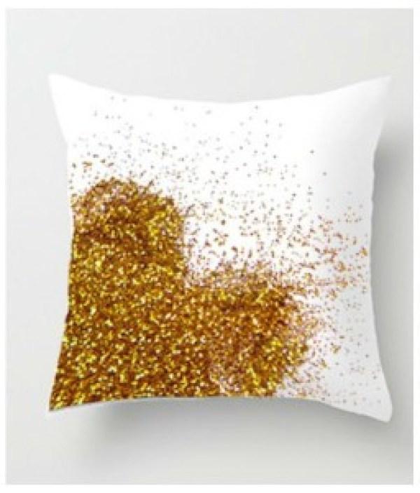 DIY Golden Pillow