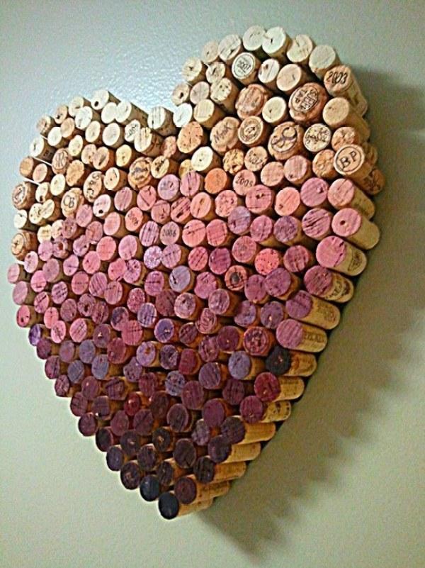 DIY Heart Cork Design