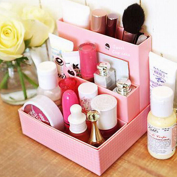 DIY Pink Cosmetics Decor