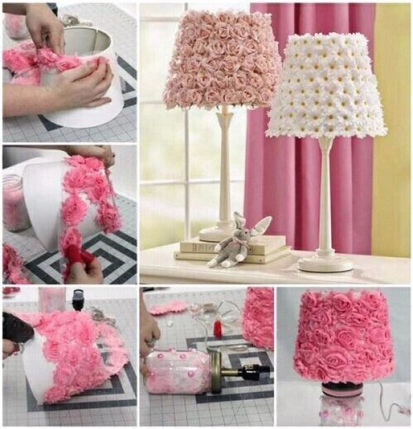 DIY Pink Lamps