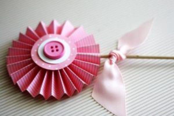 DIY Pink Flower