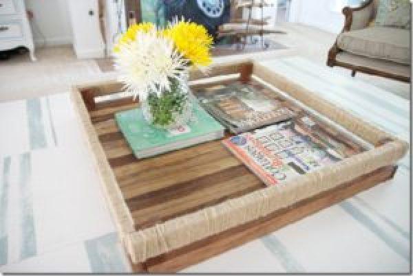 DIY Modern Pallet Tray