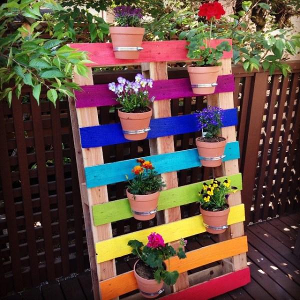 build your own pallet vertical planters