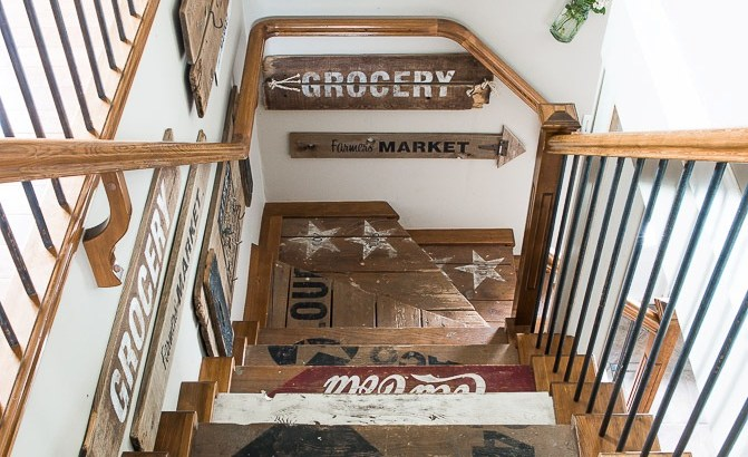 DIY Wooden Stairs Design