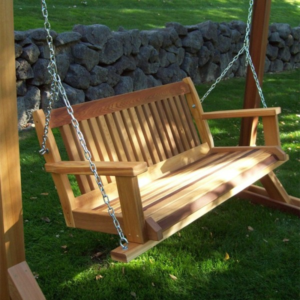 DIY Wooden Swing