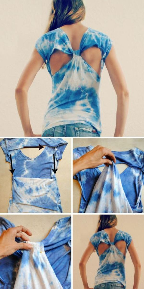 DIY Blue Clouds T-Shirt