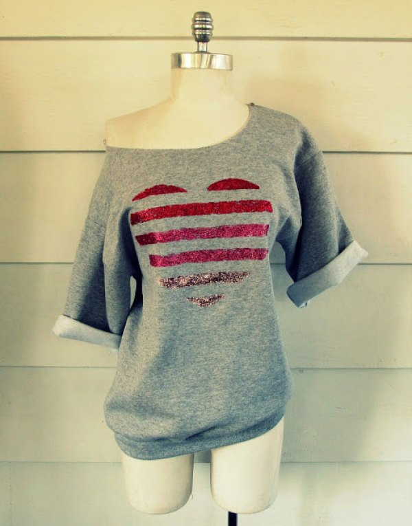 DIY Grey Romantic Shirt