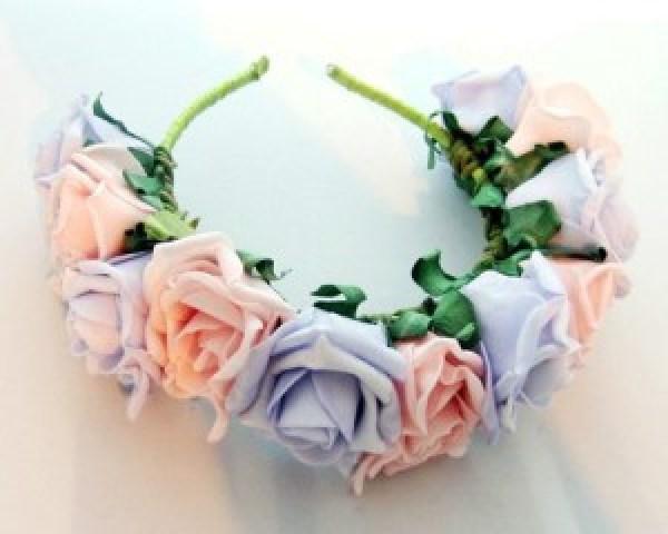 DIY Headband with flowers