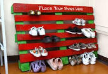 shoe rack.
