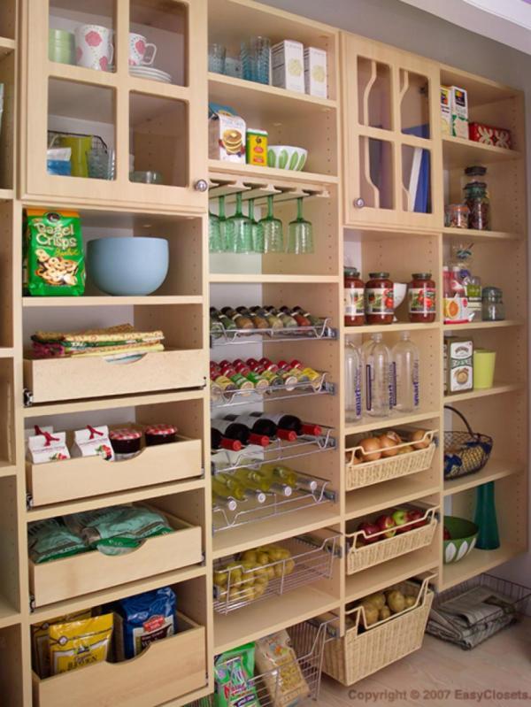 organizing things at kitchen
