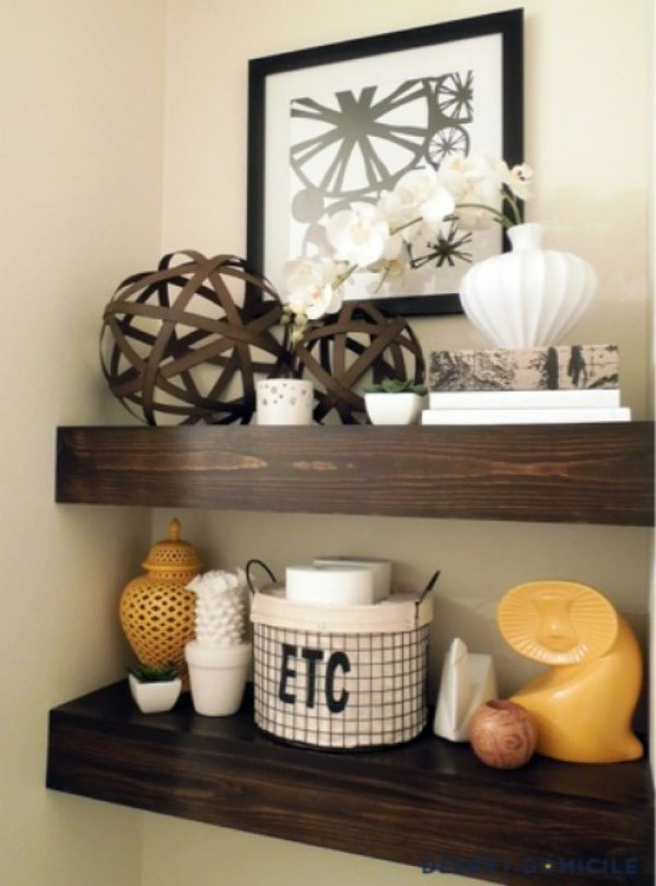 rustic reclaimed shelves
