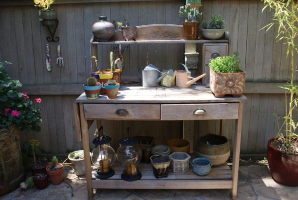 diy potting bench project