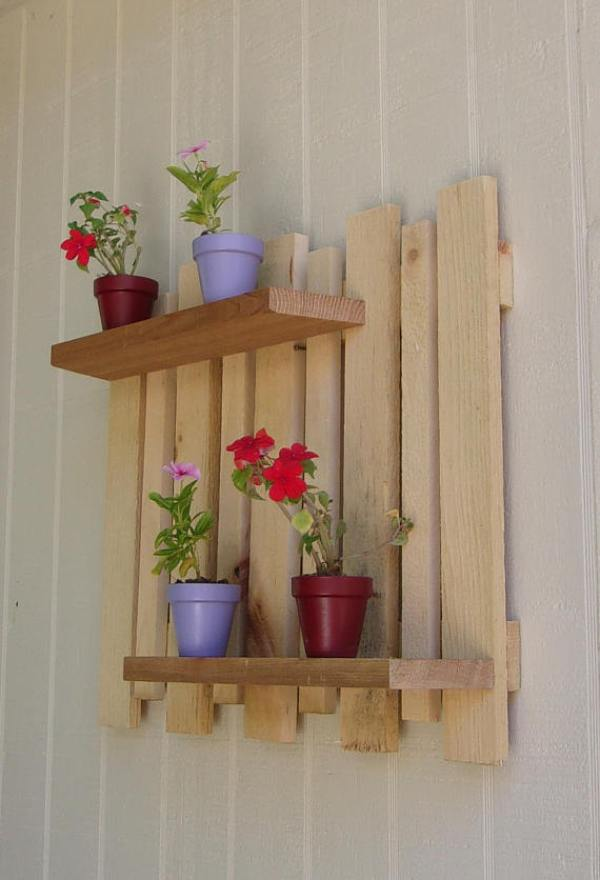rustic wood pallet planters