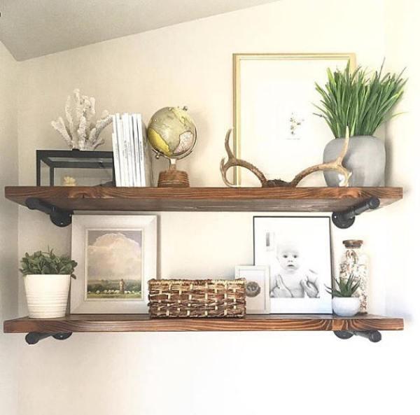 wall decor storage shelves