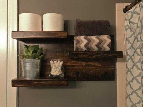 innovative bathroom shelves ideas