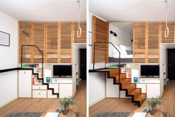 diy tiny home smart storage solution easy diy and crafts. Black Bedroom Furniture Sets. Home Design Ideas