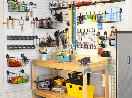 homemade garage shelves ideas