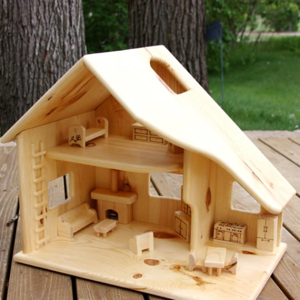 diy wooden doll house plans