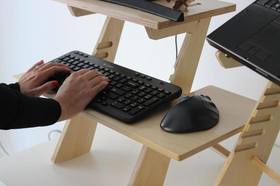 DIY laptop standing desk