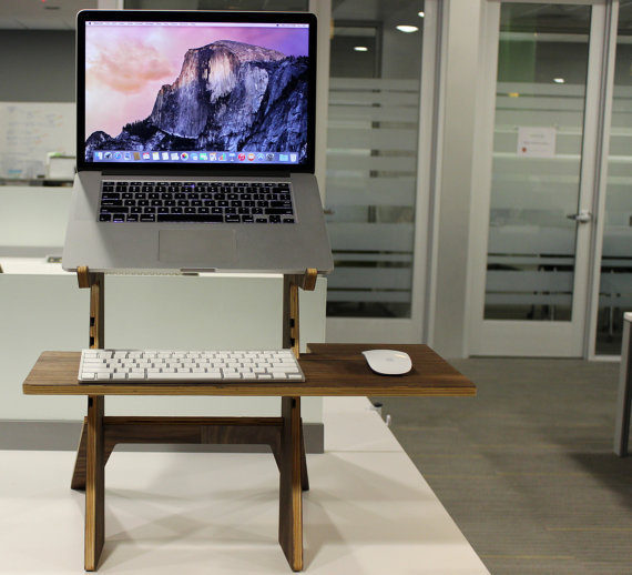 DIY wooden laptop desk