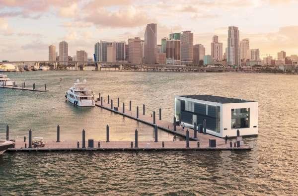 ultra modern floating home