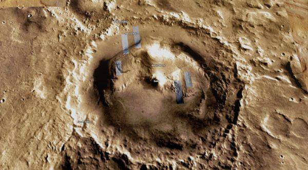 how to explore mars on google maps