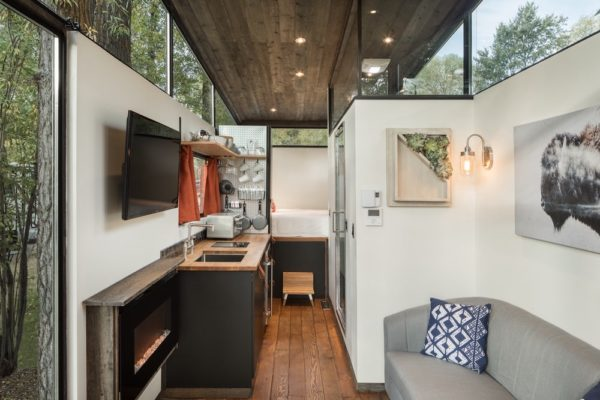 inside the tiny house