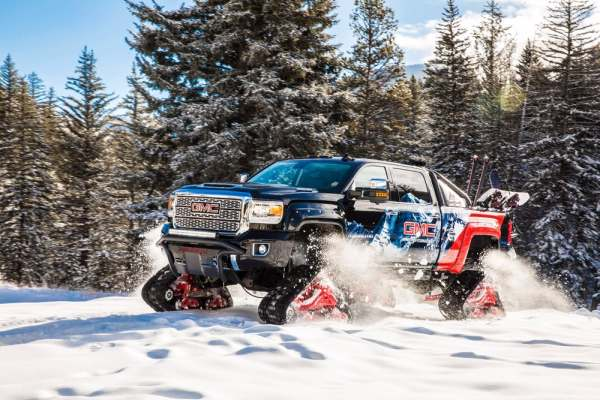 GMC 4wd snow tracking monster