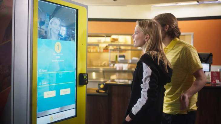 how to order food through kiosk