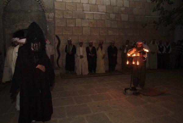 inside yazidi tomb