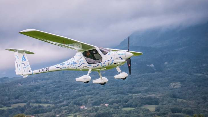 battery-powered electric plane