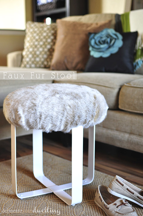 do it yourself faux fur stool