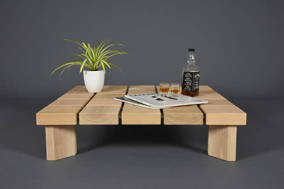 modern handmade coffee table